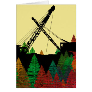 CRANE OPERATOR OPERATING ENGINEER COLORFUL ART CARD