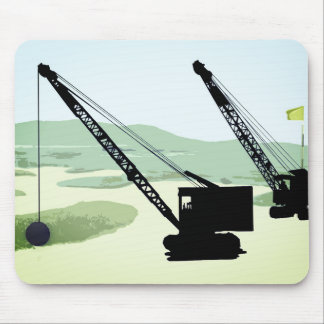 Crane OPERATOR OPERATING ENGINEER GOLF GOLFING Mouse Pad