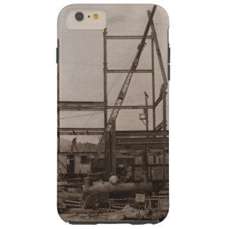 Crane Operator Setting Steel Early 1900's Crane Tough iPhone 6 Plus Case