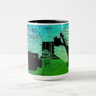Crane Shovel OPERATING ENGINEER art bulldozer Mug