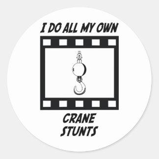 Crane Stunts Stickers