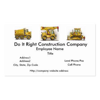 Crane Truck Business Cards