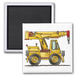 Crane Truck Construction Magnets