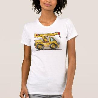 Crane Truck Ladies Tank Top