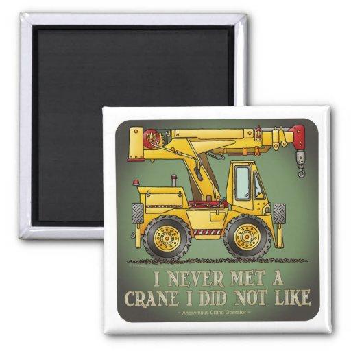 Crane Truck Operator Quote Magnet