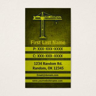 Crane yellow grunge custom business cards