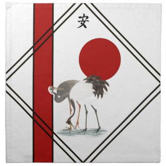 Cranes and Tranquillity Napkin