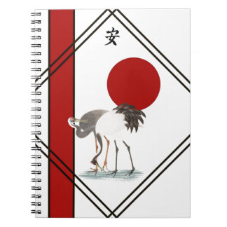 Cranes and Tranquillity Notebooks