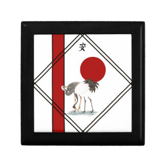 Cranes and Tranquillity Small Square Gift Box