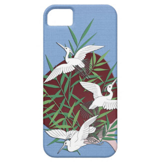 Cranes, bamboo and fan barely there iPhone 5 case