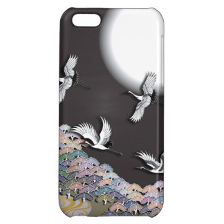 Cranes, moon and pines iPhone 5C cover