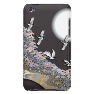 Cranes, moon and pines iPod touch case
