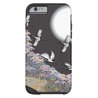 Cranes, moon and pines tough iPhone 6 case