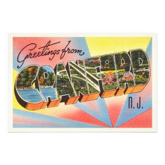 Cranford New Jersey NJ Vintage Travel Postcard- Photographic Print