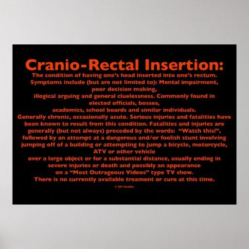 Cranio-Rectal Insertion Poster