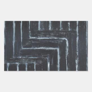Cranked Stripes (Black minimalism) Rectangular Sticker