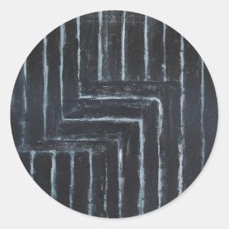Cranked Stripes (Black minimalism) Stickers