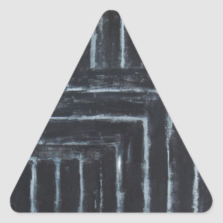Cranked Stripes (Black minimalism) Triangle Sticker