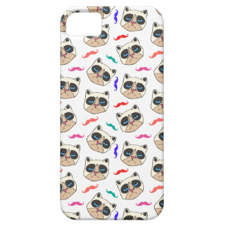 Cranky Cat and Mustaches phone case