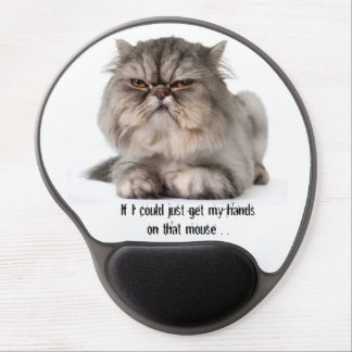 Cranky Cat computer gel mouse pad
