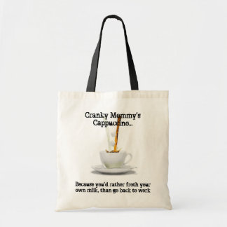Cranky Mommy's Cappuccino Tote Canvas Bag