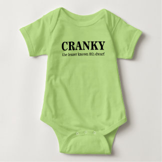 Cranky, the 8th dwarf baby bodysuit