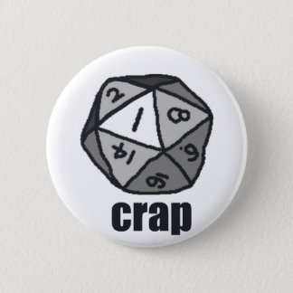 Crap 6 Cm Round Badge