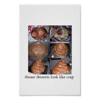 crap like desserts poster