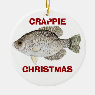 CRAPPIE CHRISTMAS CERAMIC ORNAMENT