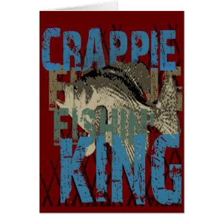 Crappie Fishin' King Card