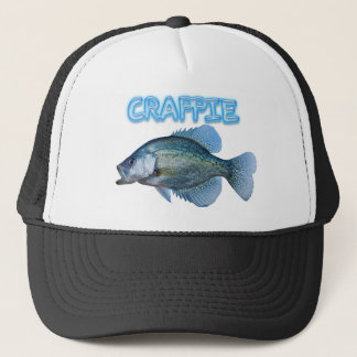 Crappie fishing trucker hat