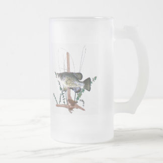 Crappie Mount Frosted Glass Beer Mug