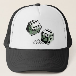 Craps Dice High Roller Gambling Trucker Hat