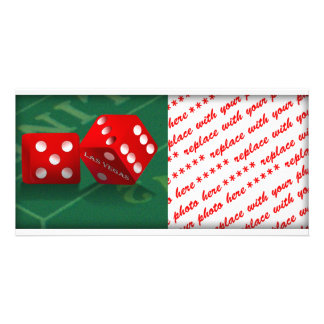 Craps Table With Las Vegas Dice Personalized Photo Card