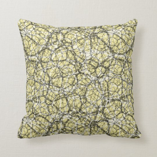 "Craquelure Effect Web Pattern ""Pick The Colour"" 3 Throw Pillow"