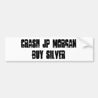 Crash JP MORGAN Car Bumper Sticker