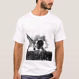 Crash landing of F6F on flight deck of_War Image T-Shirt