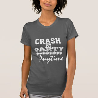Crash My Party Anytime Fitted Racerback Tank