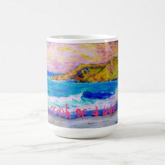 crash of a wave basic white mug
