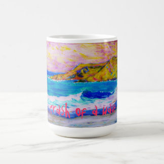 crash of a wave classic white coffee mug