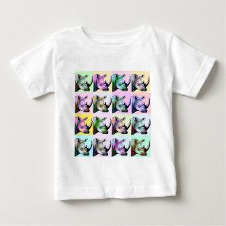 Crash of Rhinos Pop Art Baby T-Shirt