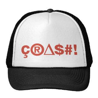 Crash Red on Black&White Cap Hat