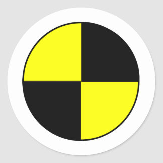 Crash Test Classic Round Sticker