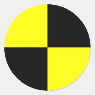 crash test dummies symbol sign car accident classic round sticker