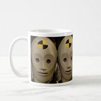 Crash test dummy coffee mug