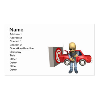 Crash Test Dummy Pack Of Standard Business Cards