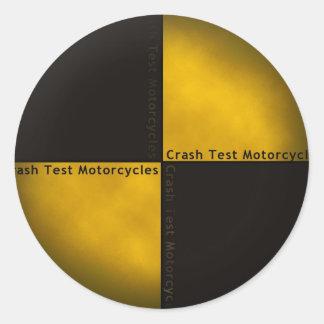 Crash Test Motorcycles Round Sticker