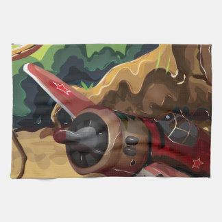 Crashed World War Fighter Aircraft Tea Towels