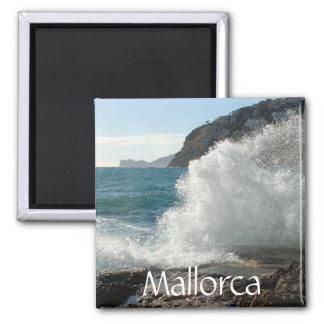 Crashing Surf on Rocks, Mallorca, Spain Magnet