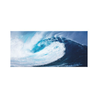 Crashing Wave Accent Photo Canvas Print